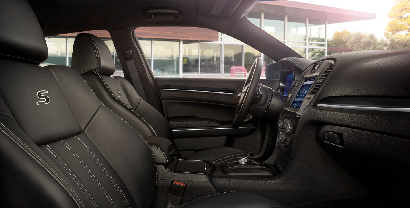 2018 Chrysler 300S front seats with S logo
